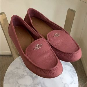 Coach leather loafers! Barely worn